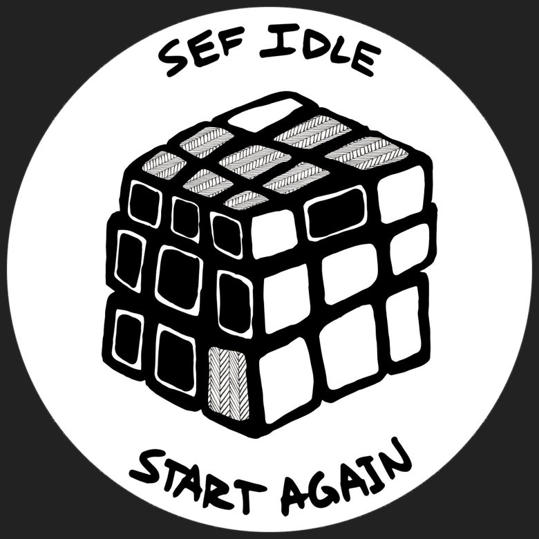 Image of Start Again Cube Sticker