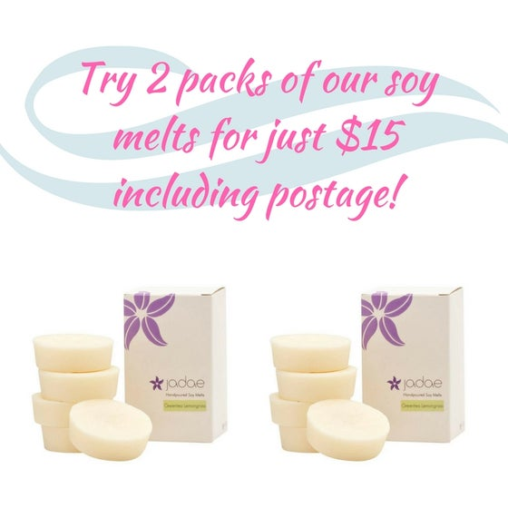 Image of 2 x 5 Pack Large Soy Melts for $15.00 including postage!