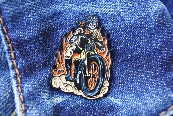 Image of Demon Dirt Slinger pin badge