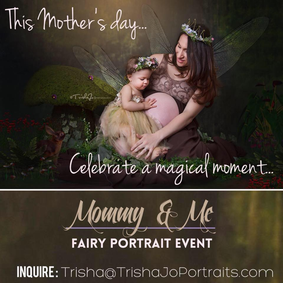 Image of Mommy & Me Fairy Portrait Event (retainer)