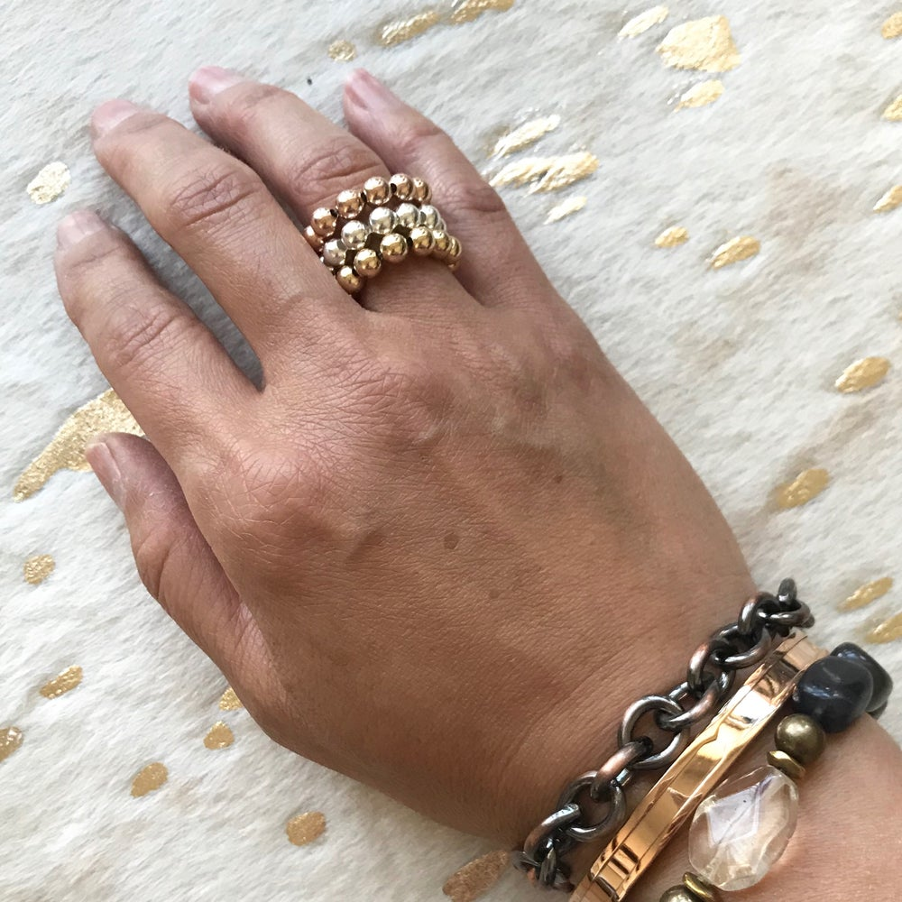 Image of Beaded Stacking Rings