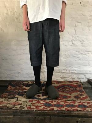 Image of TUAREG SHORTS in Grey denim