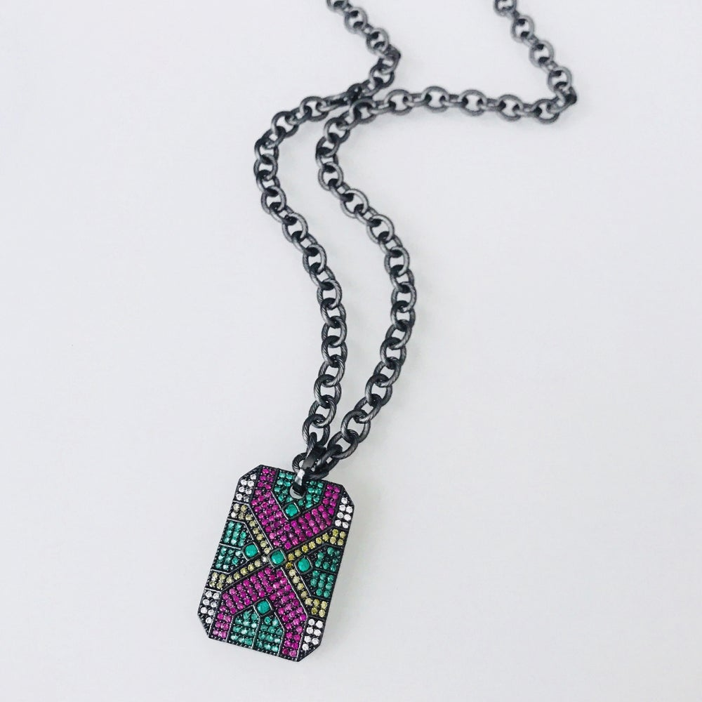 Image of Art Deco Tag Necklace