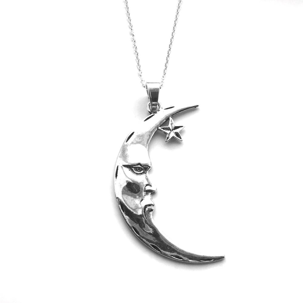 Image of Mr Moon oversize pendant necklace