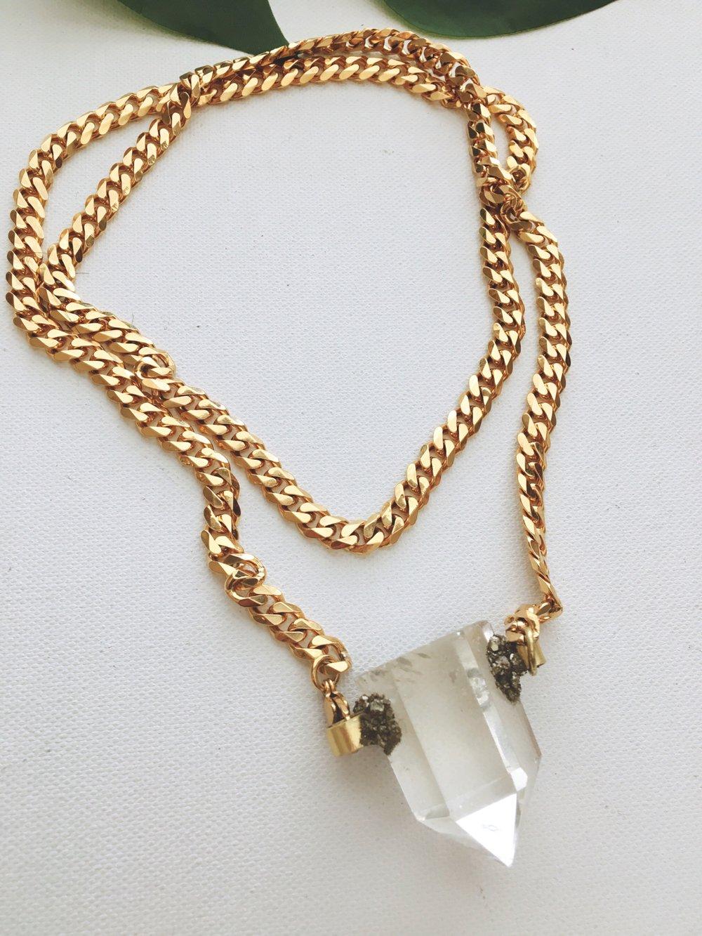 Image of ASHOTEP Gold • 2-way Quartz Necklace