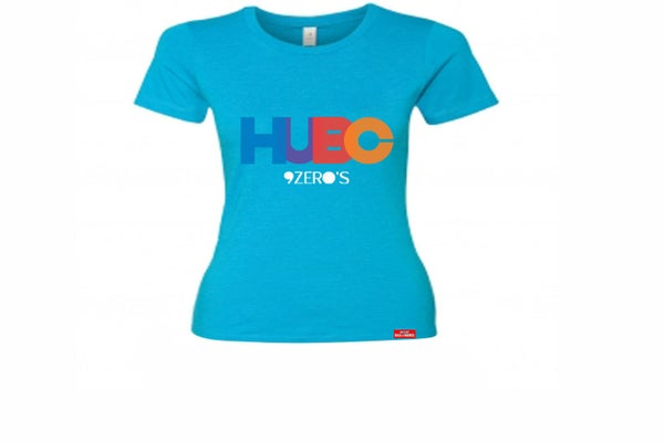 Image of HUBC 9Zero's Ladies Baby Blue Tee