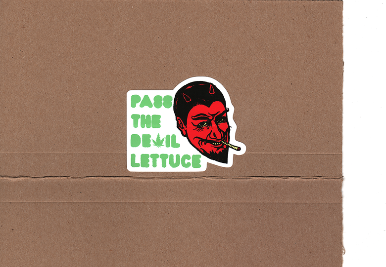 "Image of Devil Lettuce Sticker - 2""x4"""