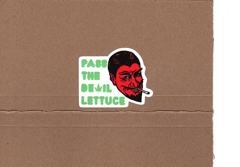 "Image of Devil Lettuce Sticker - 2""x4"""