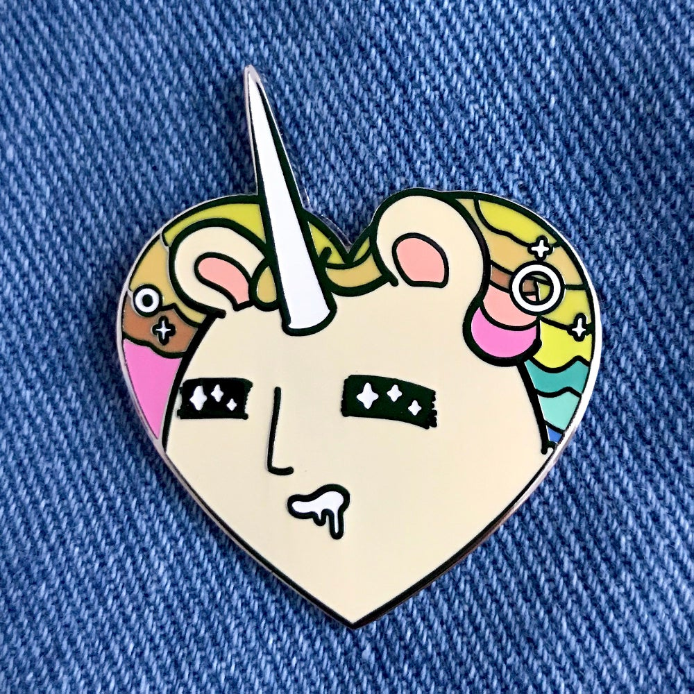 Image of Boonicorn LOVES YOU! Enamel Pin