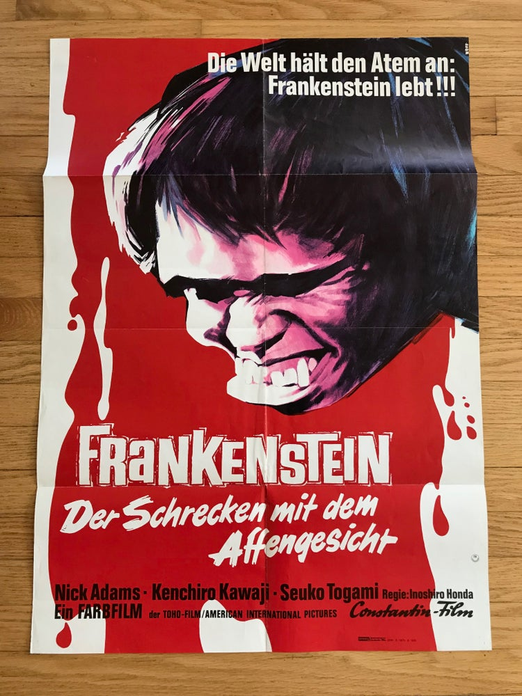 Image of 1965 FRANKENSTEIN CONQUERS THE WORLD Original German A1 Movie Poster