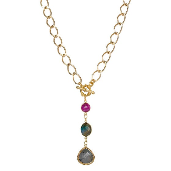Image of LAVISH LABRADORITE NECKLACE
