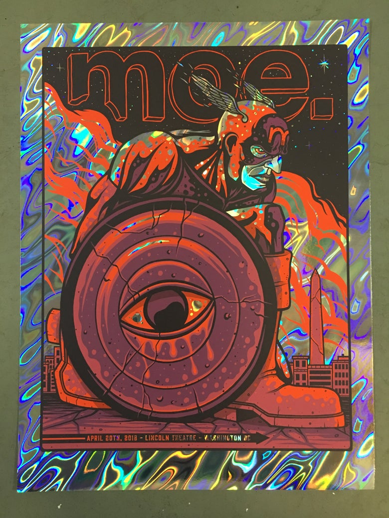 Image of Moe. - April 20th, 2018 - Lincoln Theatre - Lava Foil Variant