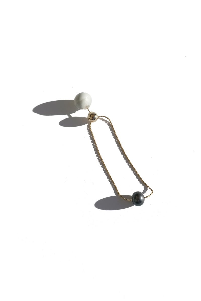 Image of pearl orbit earring