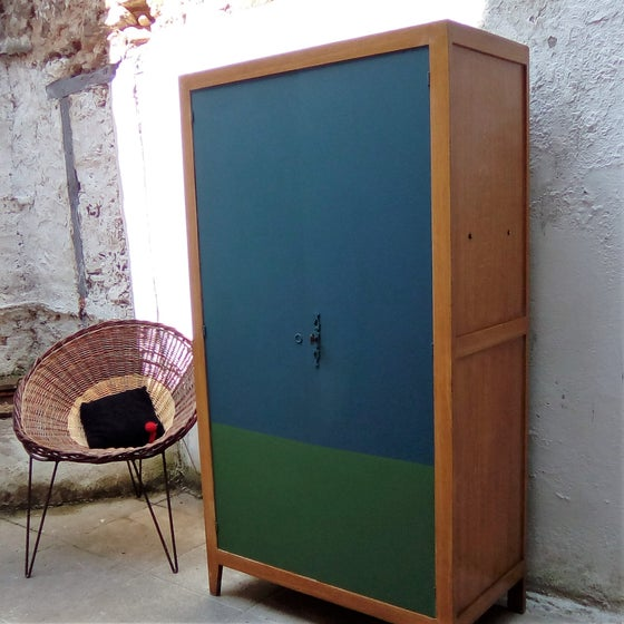 Image of Armoire type Parisienne bicolore