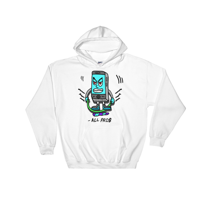 Image of White CELL PHONE JUMPING Hoody