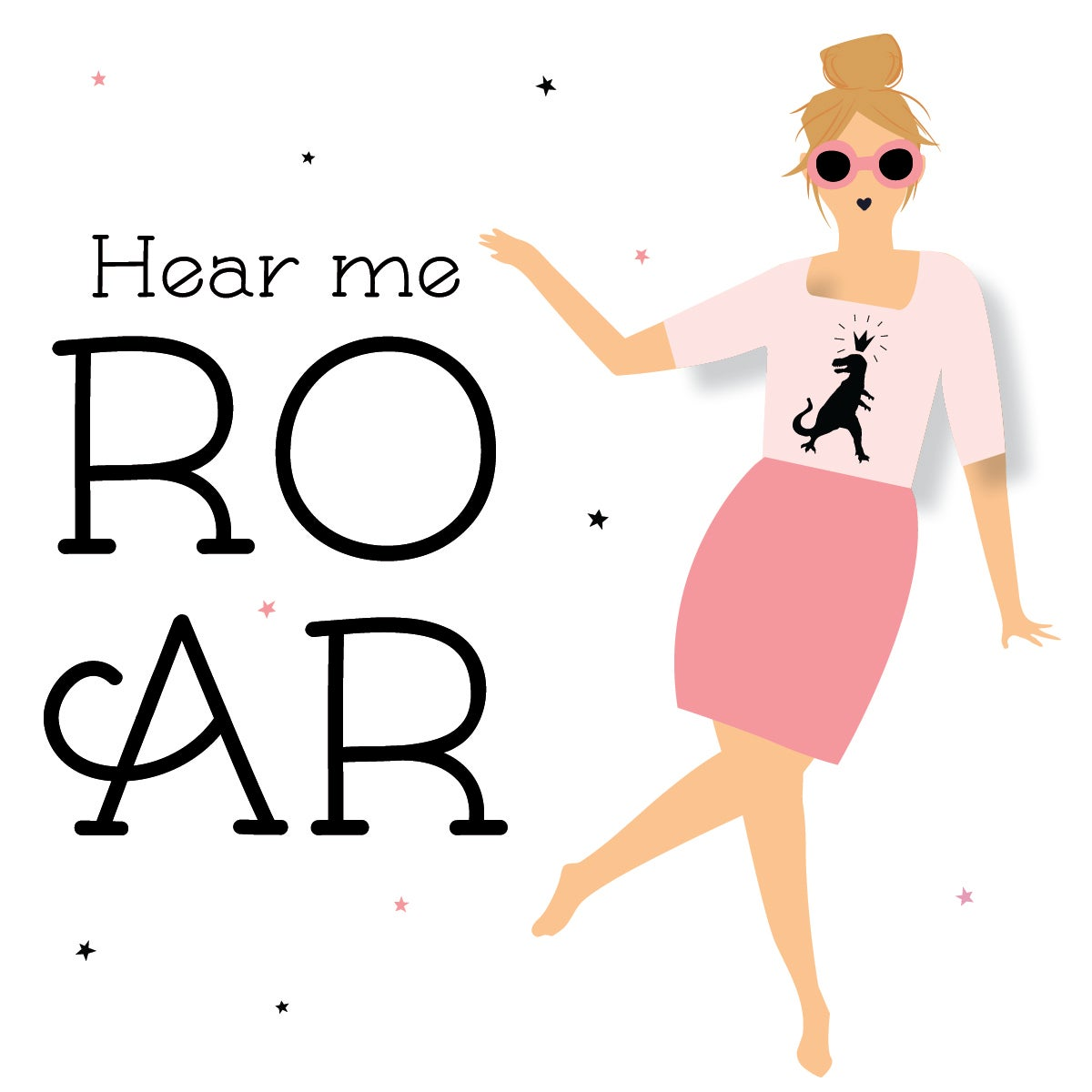 Hear Me Roar Note Cards