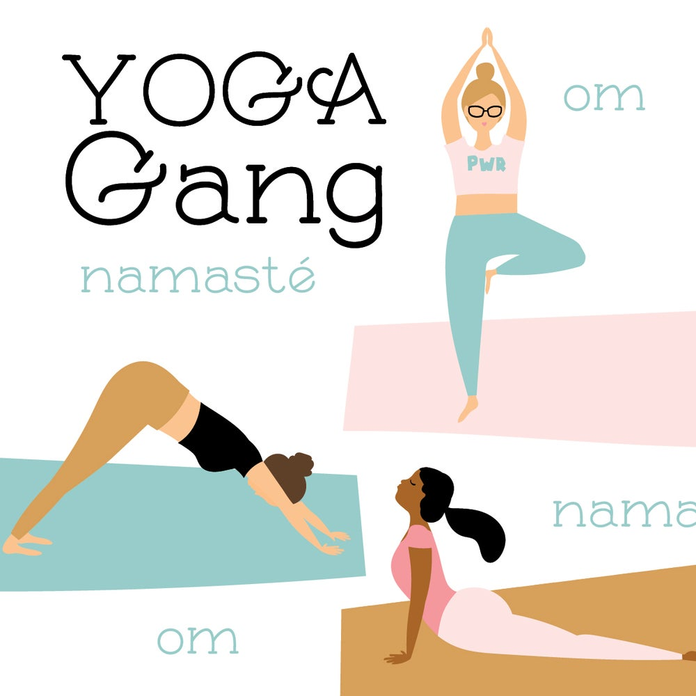 Image of Yoga Gang note cards