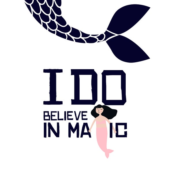 Image of I Do Believe In Magic Mermaid  note cards