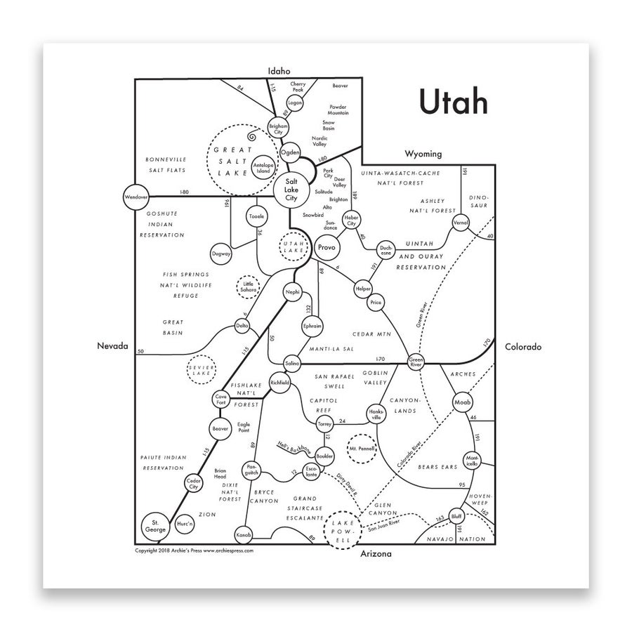 Image of Utah Map