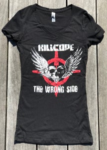 "Image of KC women's  V-Neck ""The Wrong Side Tee"