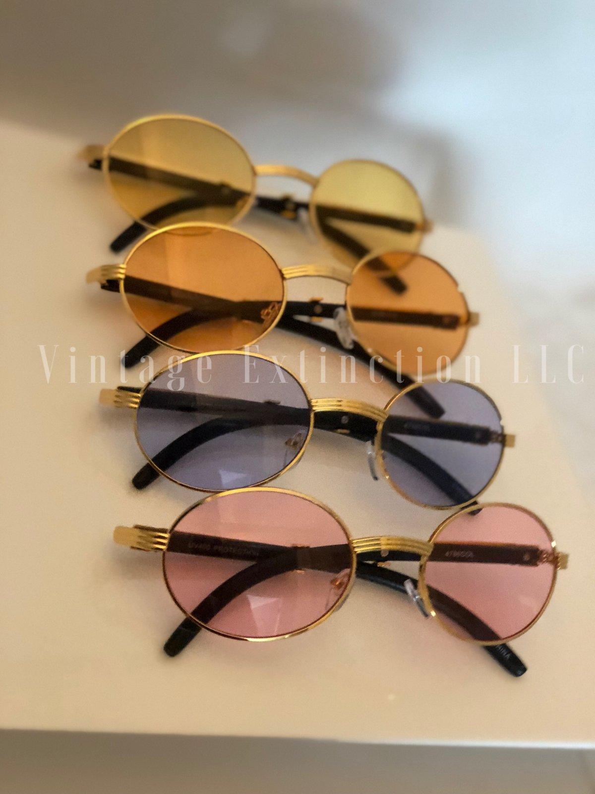 Image of Premium Unisex Wood Grain Sunglasses