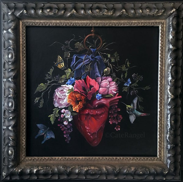 Image of Framed Heart Painting