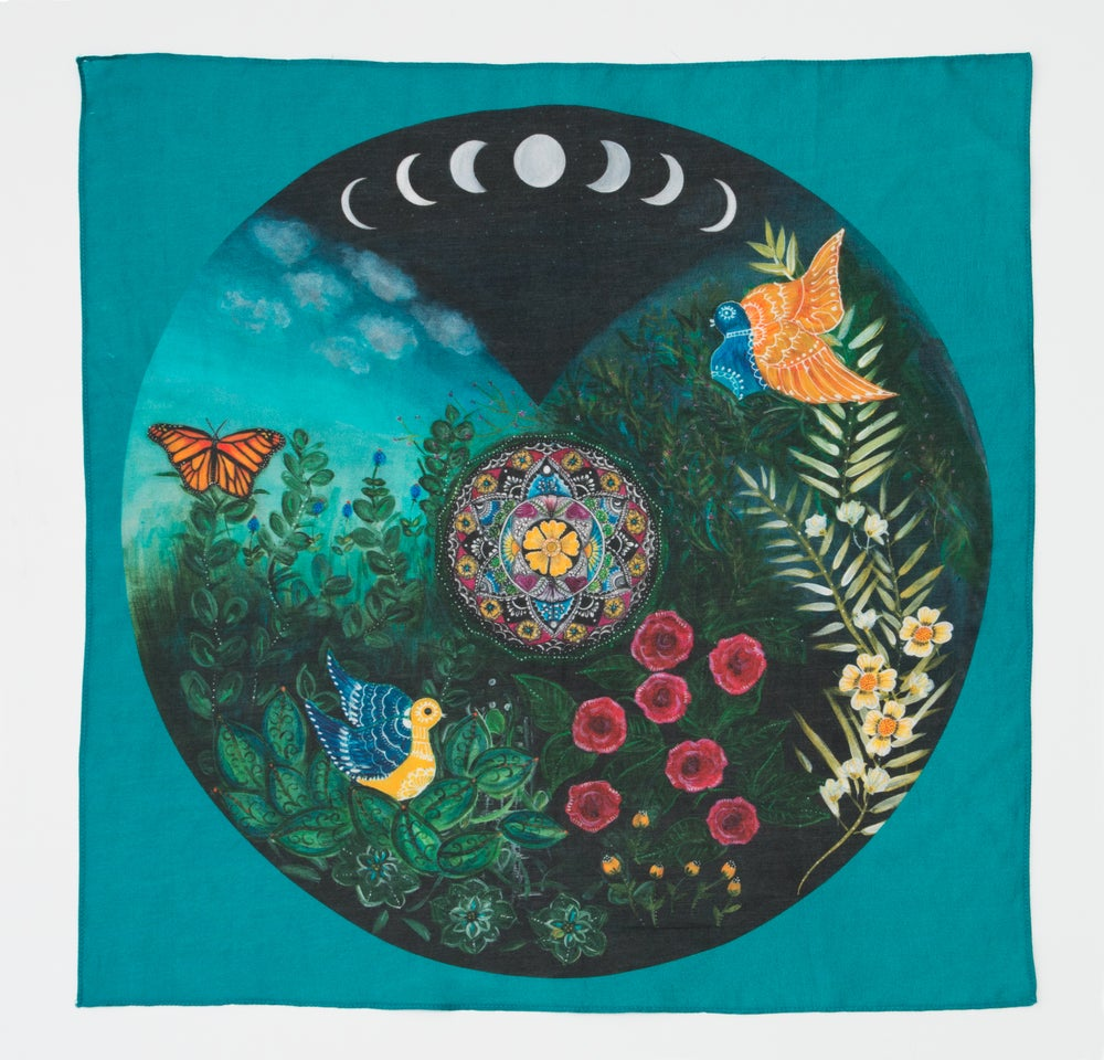 Image of Mandala Scarf - Mexican Moon