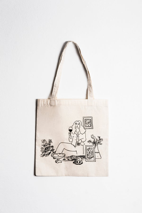 Image of 'Adios' signed tote bag (Limited)