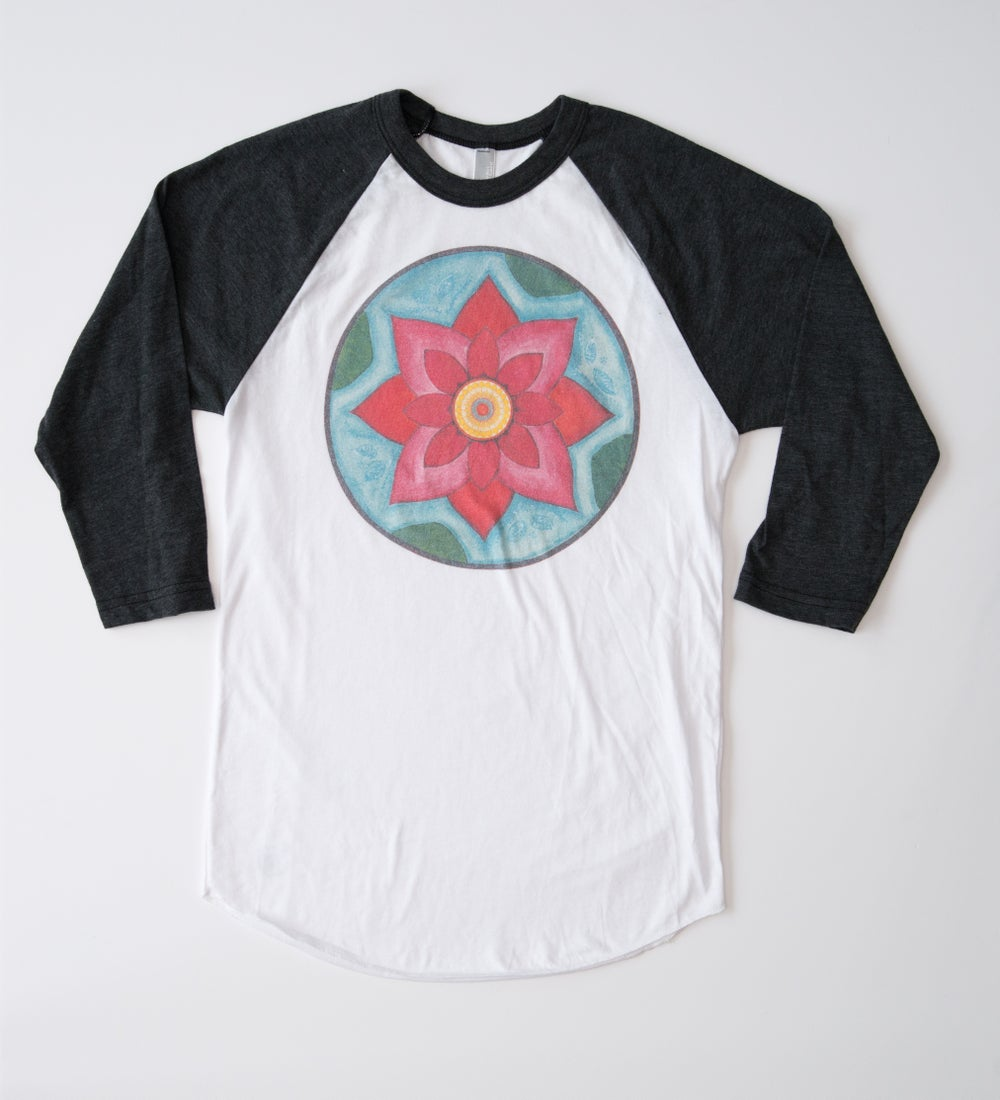 Image of Pink Lotus Baseball Tee