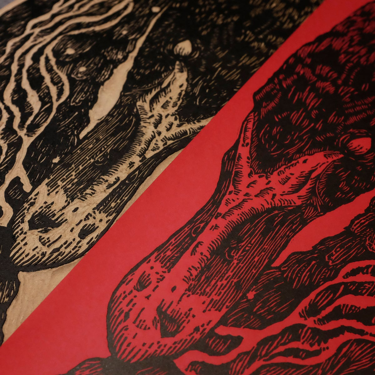 Image of PLANET OF ZEUS WOODCUT POSTER (Paris 2018)