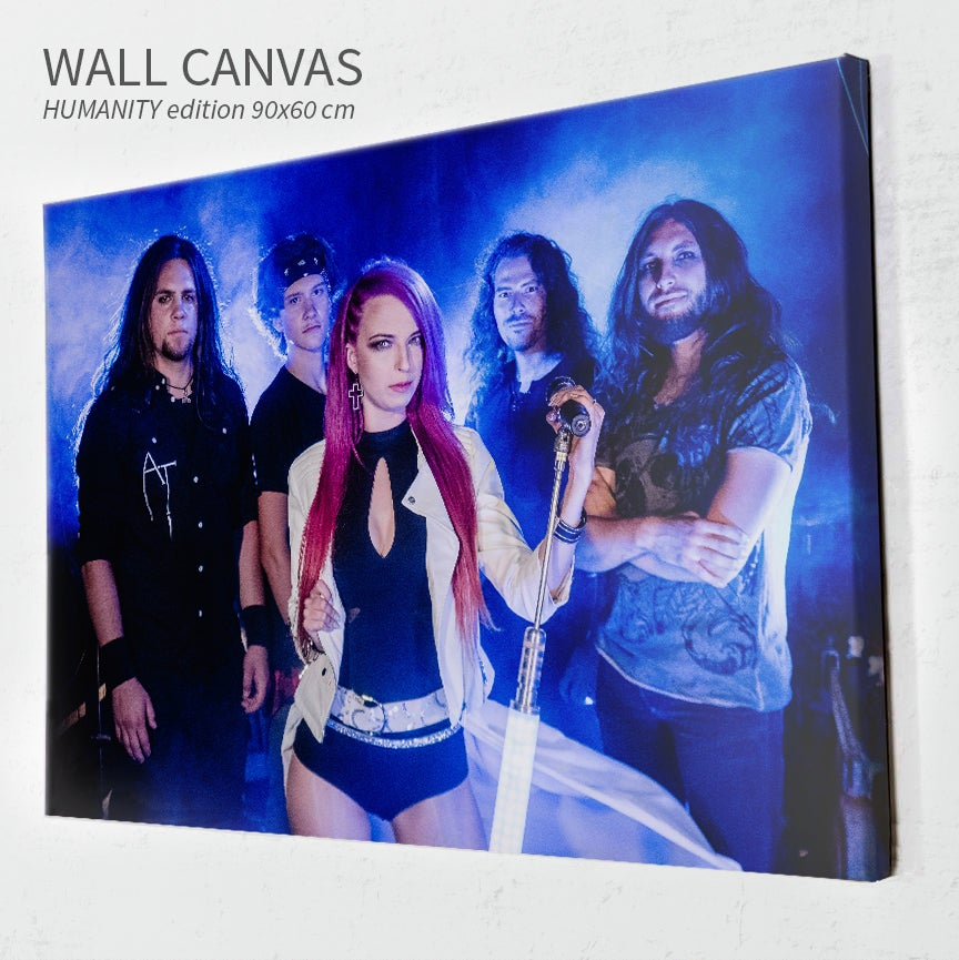 Image of HUMANITY wall canvas (90x60 cm)