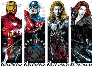 Image of AVENGERS ART PRINT POSTER SET
