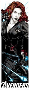 Image of BLACK WIDOW ART PRINT