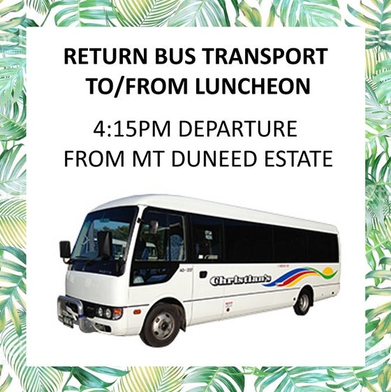 Image of Return bus transfers to Mother's Day Luncheon - 4:15pm departure from Mt Duneed Estate