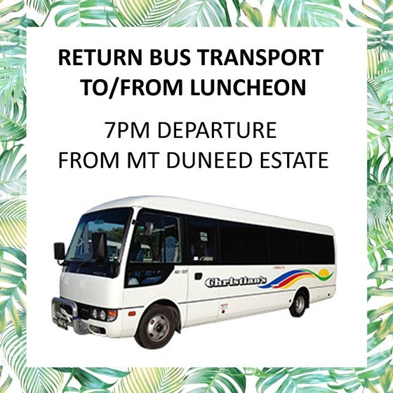 Image of Return bus transfers to Mother's Day Luncheon - 7pm departure from Mt Duneed Estate