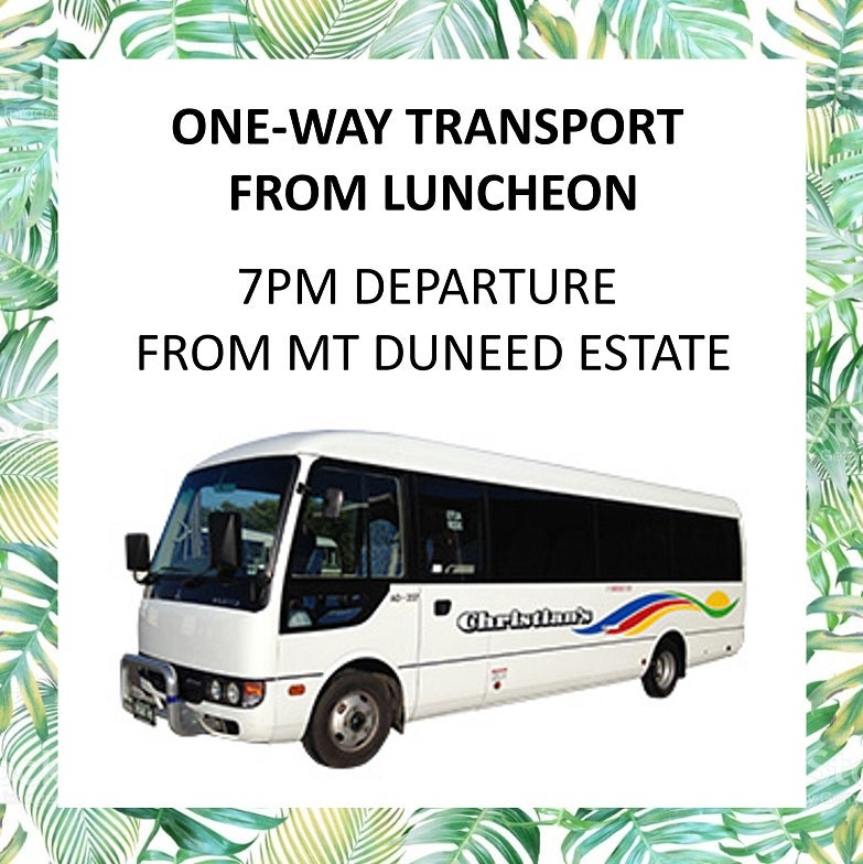 Image of Bus transfer (one-way) after Mother's Day Luncheon - 7pm departure from Mt Duneed Estate