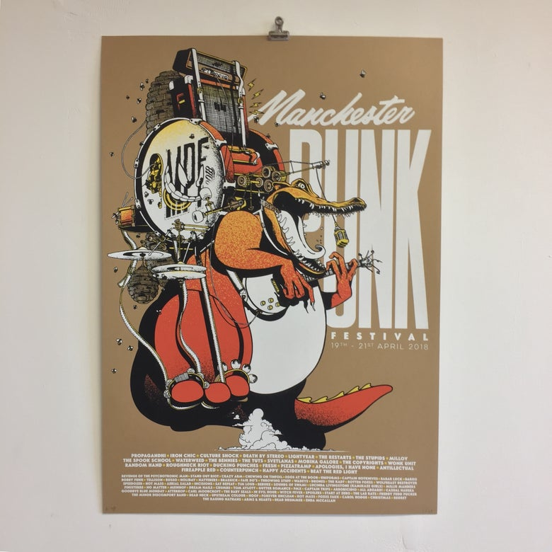 Image of MANCHESTER PUNK FESTIVAL Screenprint: 19.04.18 (Variant 1)