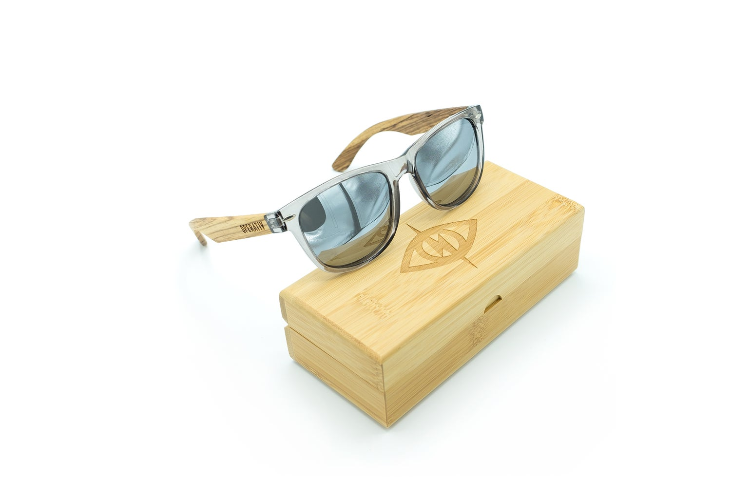 Image of GARBO [ zebra wood + clear grey ]