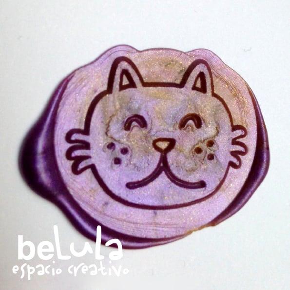 Image of Sello de lacre: gato