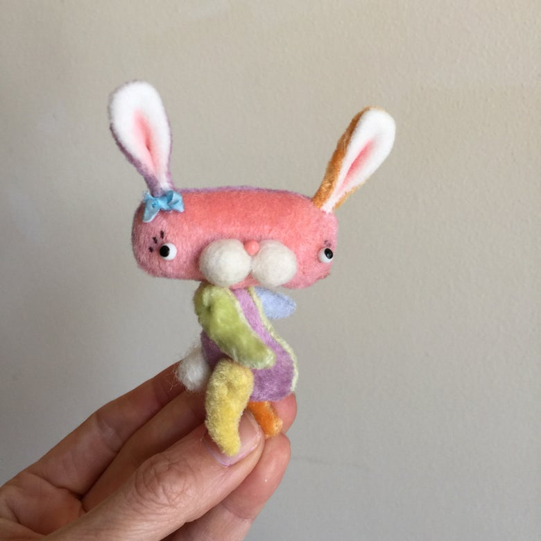 Image of Fluffer the Spring Bunny in Multicolors