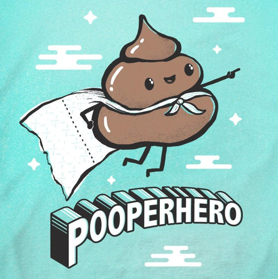 Image of Pooperhero Toddler Tee/ Baby Bodysuit