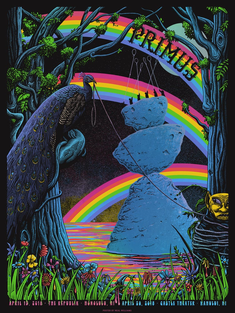 Image of Primus in Hawaii Poster (Foil Variant)