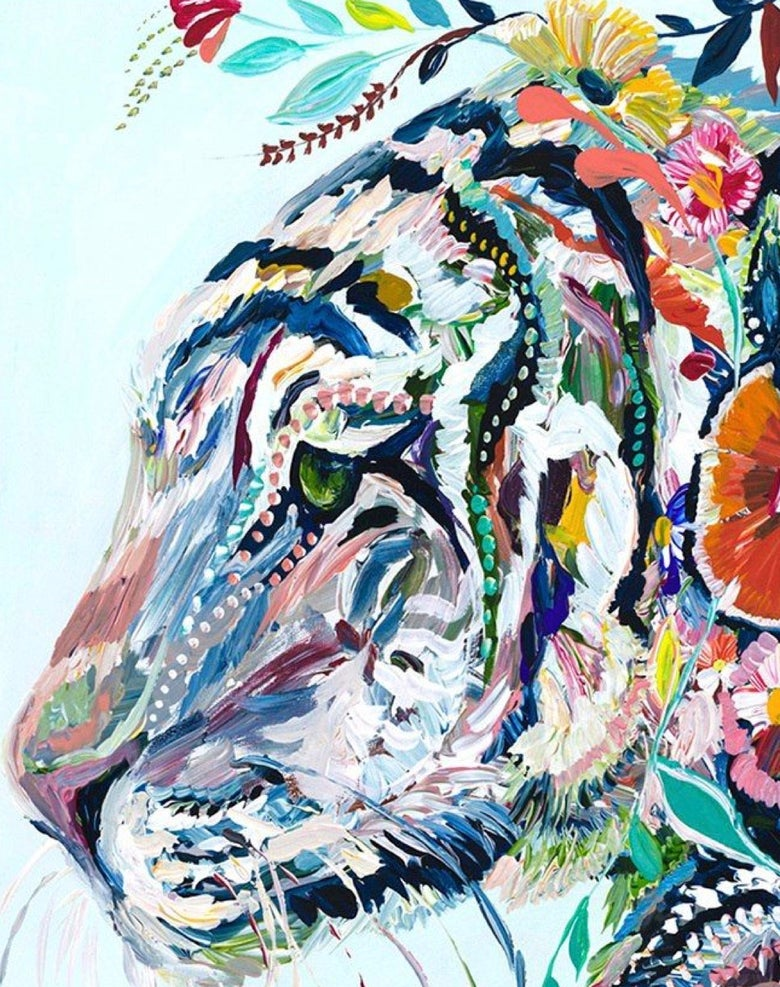Image of Pop up Paint Night : FLORAL TIGER Friday 9th November  7 -9pm