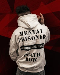 MOSTRO - FELPA MENTAL PRISONER WHITE - HONIRO STORE