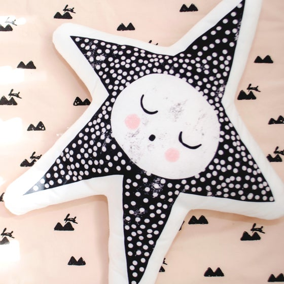 Image of Sleepy Star Handmade Cushion