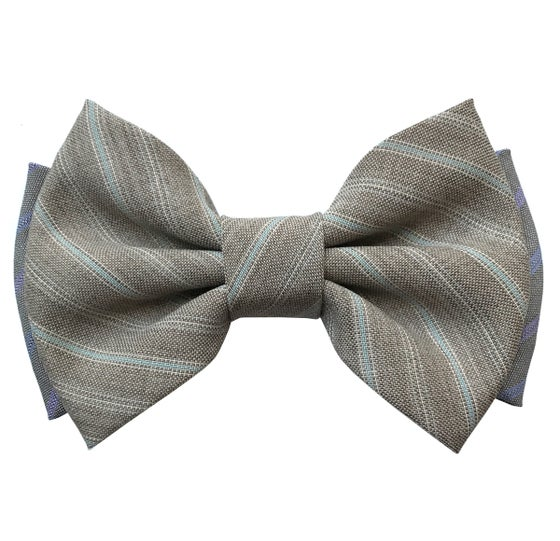 Image of Beige stripes pre-tied bow tie