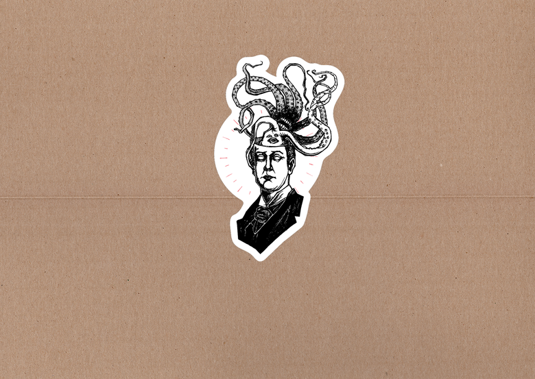 "Image of Lovecraft! Sticker - 4""x2.5"""