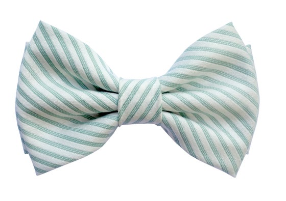 Image of Green stripes Dandy pre-tied bow tie