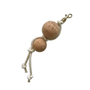 Image of ROPE & CORK ZIPPER PULL