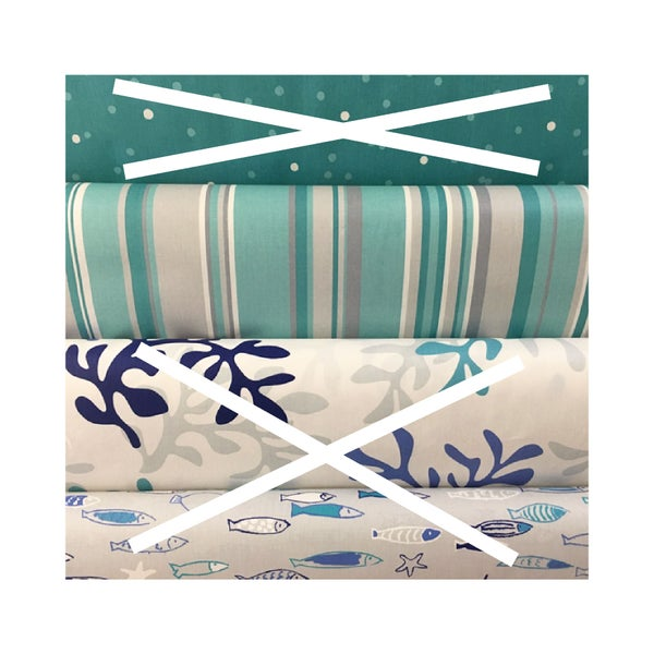 "Image of Nappe enduite française ""rayures turquoises"""